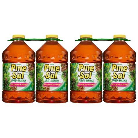 Pine-Sol Multi-Surface Disinfectant, Pine Scent (4pk.,100oz.)