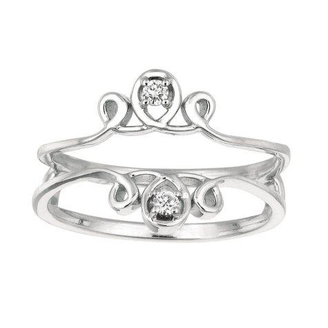 0.06 ct. t.w. Round Diamond Ring Guard in 14k White Gold (I, I1)
