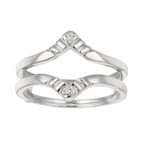 0.04 ct. t.w. Round Diamond Ring Guard in 14k White Gold (I, I1)