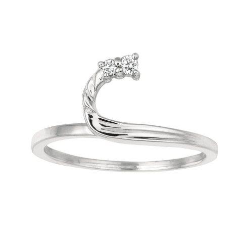 0.05 ct. t.w. Round Wrap Around Diamond Ring in 14k White Gold (I, I1)