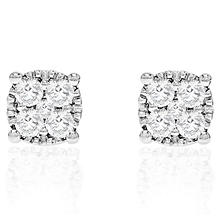 0.50 CT. T.W. Diamond Stud in 14K White Gold