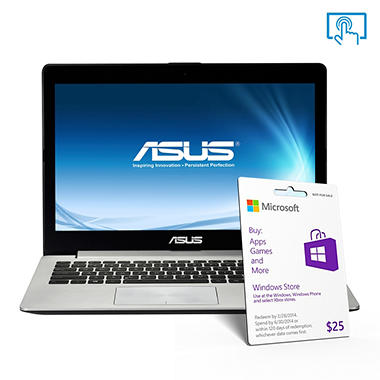 "ASUS X202E-DB21T 11.6"" Touch Laptop Computer, Intel Pentium 2117, 4GB Memory, 500GB Hard Drive"