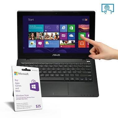 "ASUS F200CA-SH01T 11.6"" Touchscreen Laptop Computer, Intel Celeron 1007U, 4GB Memory, 500GB Hard Drive"
