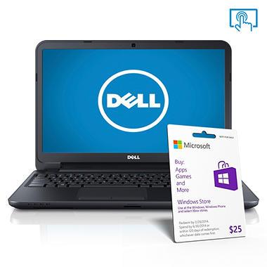 "Dell Inspiron 15.6"" Touch Laptop Computer, Intel Core i3-3227U, 4GB Memory, 500GB Hard Drive"