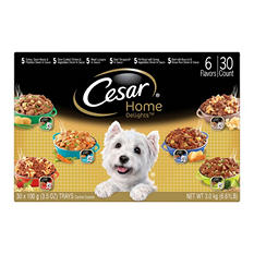 Cesar Home Delights Wet Dog Food, Variety Pack (3.5 oz., 30 ct.)