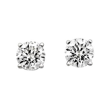 0.46 ct. t.w. Round Diamond Stud Earrings in 14k White Gold (I, SI2)