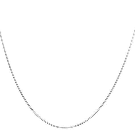 "22"" Adjustable Snake  Chain In 14K White Gold"