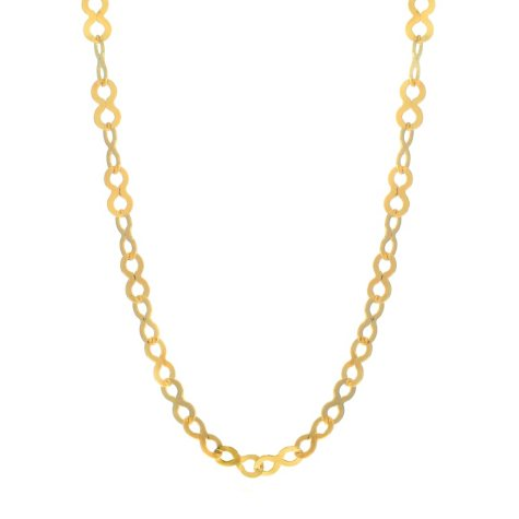 "18"" Infinity Necklace In 14K Yellow Gold"