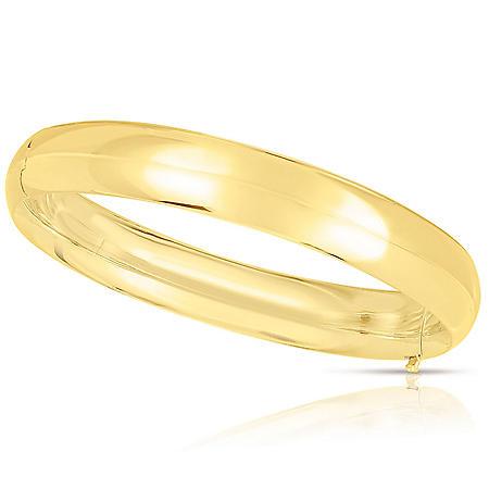 10mm Polished Bangle In 14K Gold