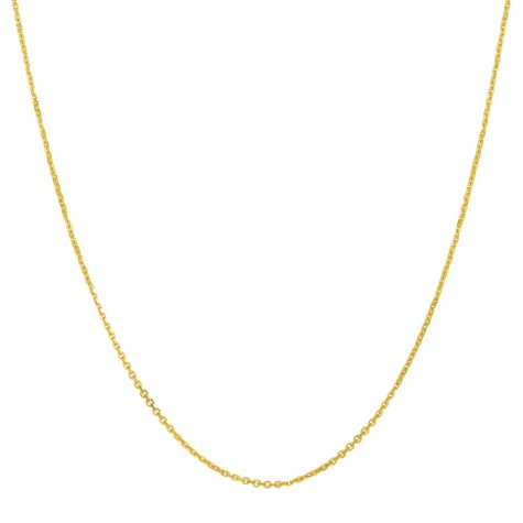 """22"""" Adjustable Cable Chain In 14K Yellow Gold"""