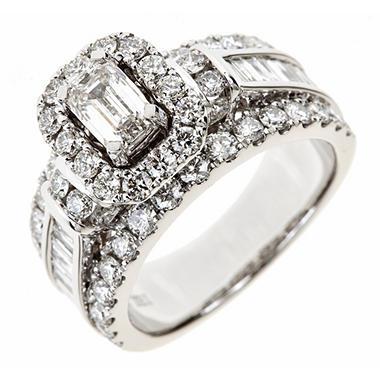 Moissanite Engagement Ring Rose Gold Diamond Wedding Band Curved