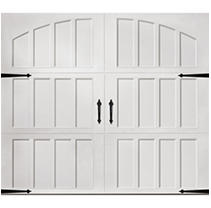 Classica 3000 Northampton Garage Door - White 8 x 7 No Windows