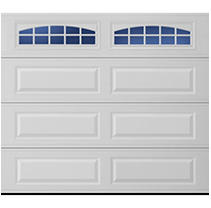 Stratford 1000 Long Panel Garage Door - White 9 x 8 Cascade Window