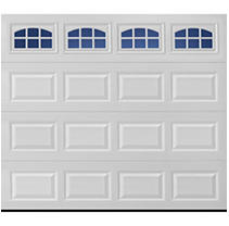 Stratford 2000 Short Panel Garage Door - White 8 x 7 Cascade Window