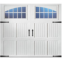 Classica 3000 Tuscany Garage Door - White 9 x 8 Seine Window