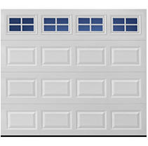 Amarr Lincoln Traditional Garage Door - Long Panel Design - White 9 x 8 Stockton Window