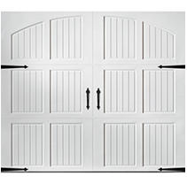 Classica 2000 Tuscany Garage Door - White 8 x 7 No Windows
