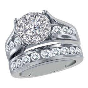 2.00 CT. T.W. Unity Diamond Engagement Set in 14K White Gold I, I1