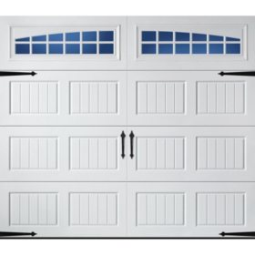 Amarr Hillcrest 3138 Carriage House Garage Door - Short Bead Board Panel Design (Multiple Options)