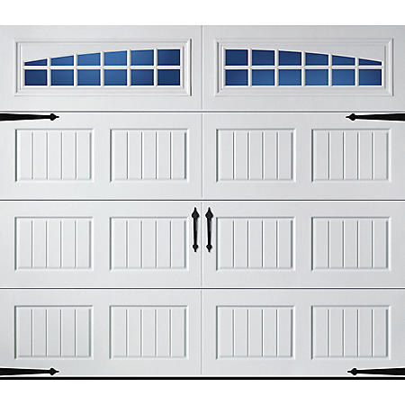 Amarr Hillcrest 2000 White Carriage House Garage Door (Multiple Options)