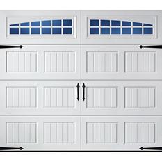 Amarr Oak Summit 1000 White Panel Garage Door (Multiple Options)