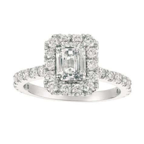 2.00 CT.T.W. Emerald-Cut Diamond Engagement Ring 14K White Gold (I, I1)