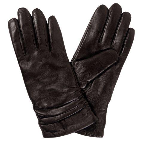 Women's Premium Lambskin Leather Gloves - Brown