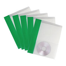 Storex Clear Poly Two-Pocket Folder, 25 ct.