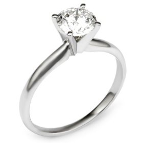 0.96 CT. T.W. Round Diamond Solitaire Engagement Ring in 14K Gold