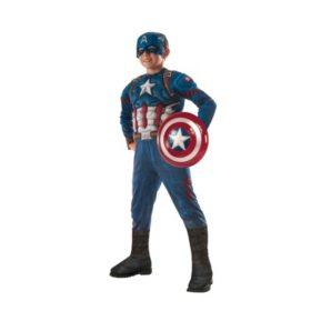 Civil War Captain America Muscle-Chest Halloween Costume