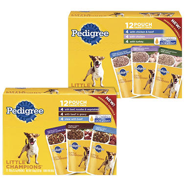 Pedigree Little Champions Variety Pack 24 ct. Bundle (Choose Your Flavors)