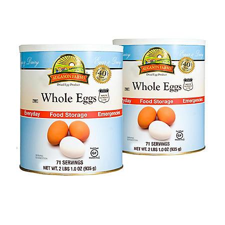 Augason Farms Dried Whole Eggs - #10 cans - 2 pk.