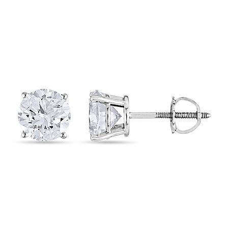 1.45 CT. T.W. Round Diamond Stud Earrings in 14K Gold (I, I1)