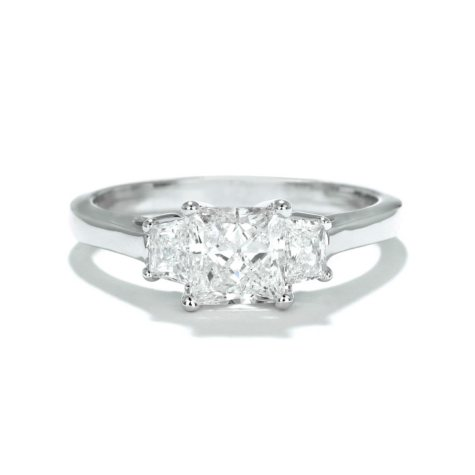 Premier Diamond Collection 1.37 CT. Princess Three-Stone Engagement Ring in 14K White Gold (G-H, I1)