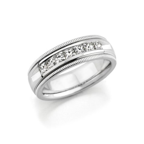 2 CT. T.W. Men's Diamond Wedding Band (Assorted Colors)