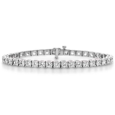 9.95 CT. T.W. Diamond Tennis Bracelet in 14K White Gold (H-I, I1)