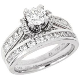 1.95 CT. T.W. Diamond Engagement Set in 14K White Gold (I, I1)