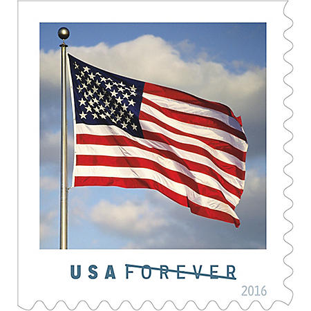 USPS FOREVER First Class Postage Stamps, U S  Flag, Coil of