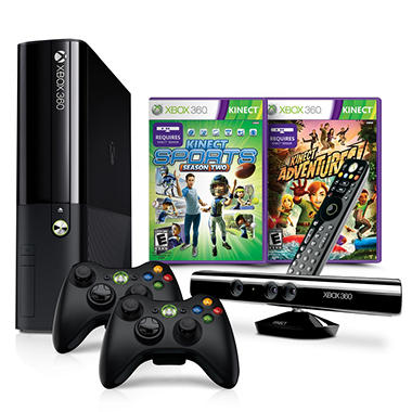 Xbox 360 4GB Console w/ Kinect Dotcom Holiday Bundle