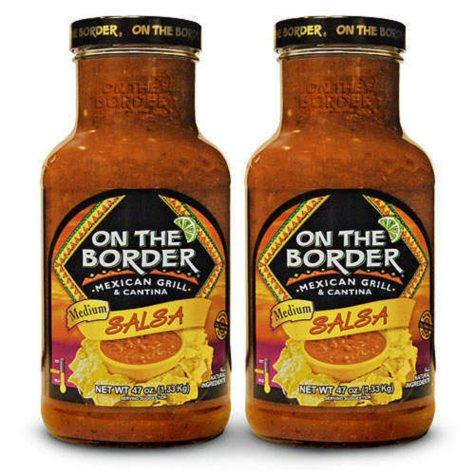 On The Border® Medium Salsa Jars - 47 oz. - 2 pack