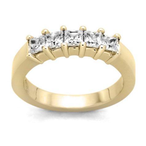 0.25 ct. t.w. 5-Stone Princess Diamond Band in 14k Yellow Gold (H-I, I1)