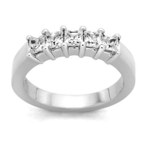 0.25 ct. t.w. 5-Stone Princess Diamond Band in Platinum (H-I, I1)