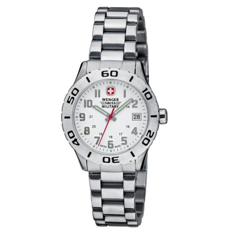 Wenger Swiss Military Grenadier Ladies Watch - White Dial Bracelet