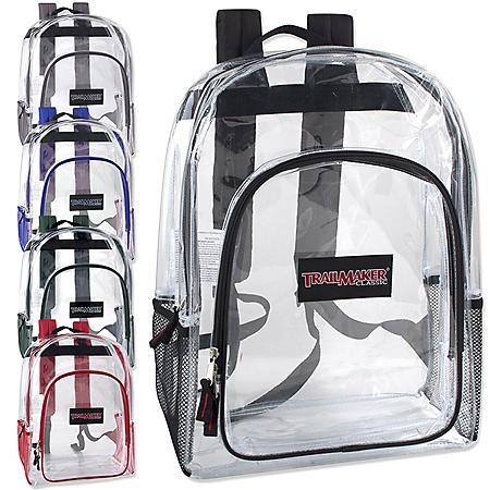 "Trailmaker 17"" Backpacks - Clear - 24 ct."