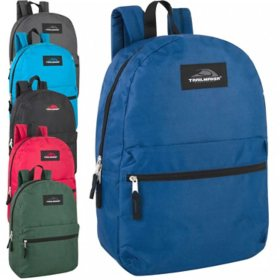 "Trailmaker 17"" Backpacks 6 Classic Colors - 24 Pack"