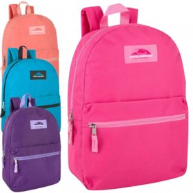 "Trailmaker 17"" Backpacks Bright Colors - 24 Pack"