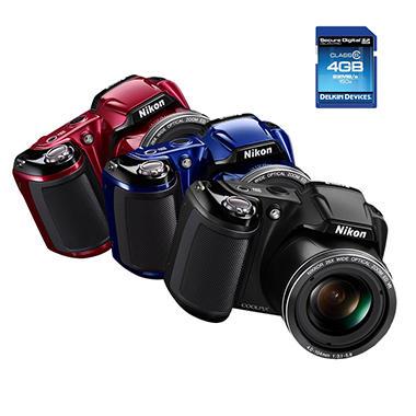 Nikon Coolpix L810 16.1MP Digital Camera with 26x Optical Zoom and Bonus 4GB Memory Card