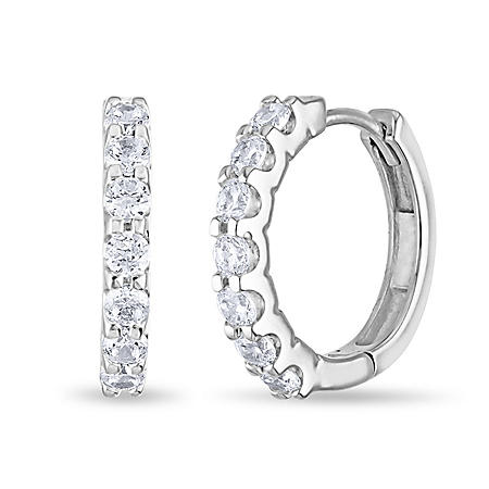 .23 CT. TW. Diamond Hoop Earrings in 14K Gold (H-I, I1)