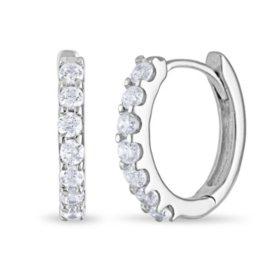 1 CT. TW. Diamond Hoop Earrings in 14K Gold (H-I, I1)