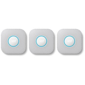 Google Nest Protect 2nd Generation Smart Smoke and Carbon Monoxide Alarm (3 Pack) - Choose Power Type